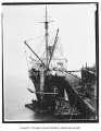 H.F. Alexander, an ocean-going passenger steamer, docked with bow damage, n.d.