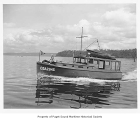 Betty-Gee, a gasoline powered boat at sea, n.d.