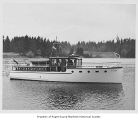 Aileen, a gasoline powered yacht near a coast probably in the state of Washington, n.d.