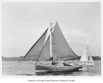 African Star, a sailing sloop at sea, n.d.