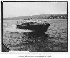Black Hawk, a gasoline powered cruiser, at sea, n.d.