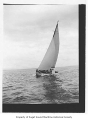 Alcyon, a sailing sloop, at sea, n.d.