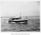 Comrade, a gasoline powered yacht at sea, n.d.