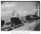 Marine Eagle, a military transport steamer, at Pier 66, Seattle, n.d.