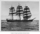 Star of France, a three-mast full rigged sailing ship, at sea, n.d.