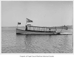 Idlewild, a gasoline powered launch, at sea, n.d.
