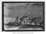 Jabez Howes, a three-mast full rigged ship, wrecked in Chignik Bay, Alaska, n.d.