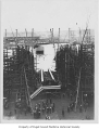 J.F. Duthie & Co. shipyard launching of SS Griffdu, a steam powered lumber schooner, Seattle,...