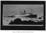 Chelohsin, a passenger steamer, stranded amid tugboats near Vancouver, British Columbia, November...