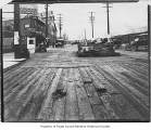 Board street outside Kitsap County Transportation Company ticket office, Seattle, ca. 1910