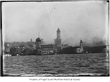 Colman Dock, Grand Trunk Pacific dock, Alaska Steamship Company's Pier 2 and a panorama of the...