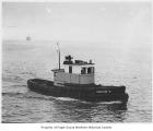 Christie R, a diesel powered tugboat, at sea, n.d.