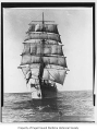 Amiral Cecille, a full rigged sailing ship at sea, n.d.