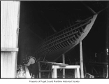Spirit, a sailing sloop, being built, ca. 1909