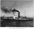 Commodore, a steam tugboat, at sea, n.d.