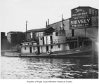 Katy, a steam tugboat, at the Bolcom Pier and Shively Tow Boat Co., n.d.