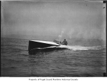 Seattle Spirit, a gasoline powered motorboat, at sea, n.d.
