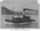 Active, a steam tugboat, at sea, n.d.