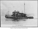 Chickamauga, a diesel powered tugboat, at sea, n.d.