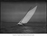Spirit II, a sailing sloop, at sea, n.d.