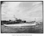 Electra, a diesel powered yacht, at sea, n.d.