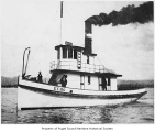 Echo, a steam tugboat, at sea, n.d.