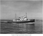 Captain, a diesel powered tugboat, at sea, n.d.