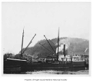 Crescent City, a steam lumber schooner, at a port in Aberdeen, n.d.