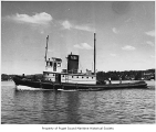 Crowley No. 28, a diesel powered tugboat, at sea, July 7, 1942