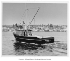 Sophia K, a diesel powered fishing boat, at sea, n.d.