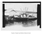 San Juan II, a gasoline powered passenger boat, at a pier in Friday Harbor, n.d.