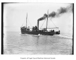 Chicago, a steam fishing boat, at sea, n.d.