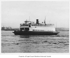 Crosline, a diesel powered ferry, at sea, n.d.