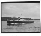 Eudora, a diesel powered yacht, at sea, n.d.