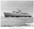 Coho, a diesel powered ferry, at sea, n.d.