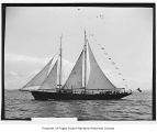 Dwyn Wen, a sailing yacht, at sea, n.d.