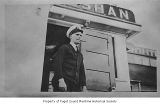 Captain Floyd Smith aboard the SS Kulshan, 1928
