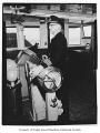 Captain Torger Birkland at the helm of the Evergreen State ferry, n.d.