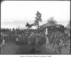 Dedication of pioneer monument at Alki, Seattle, November 18, 1905