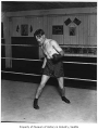 Doc Snell in boxing ring, probably in Seattle, 1927