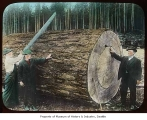 Men with large fir log, n.d.