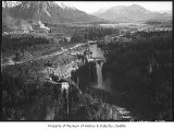 Aerial of Snoqualmie Falls, near Snoqualmie, February 15, 1935