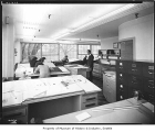 Office interior with drafting tables, Seattle, 1946