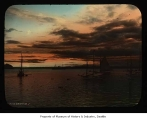 Elliott Bay at sunset, Seattle, ca. 1898
