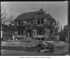 House under construction in Crown Hill neighborhood, Seattle, April 7, 1926
