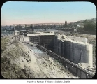 Ballard locks under construction, Seattle, ca. 1915