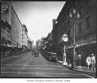Second Avenue looking north from University Street, Seattle, ca. 1929
