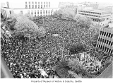 Anti-war demonstration at federal courthouse, Seattle, May 5, 1970