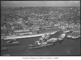 Aerial of waterfront from west, Seattle, July 10, 1935