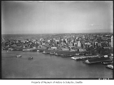 Aerial of waterfront from southwest, Seattle, July 30, 1936